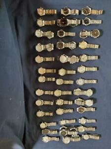 Junk Drawer Lot Sale 40 Mens Executive Style Analog Watches !! Estate Sale