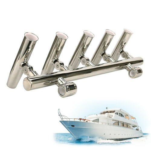 Details about  /Adjustable Rod Holder 2 rubber inserts Rocket Launcher Fishing Rod Holder