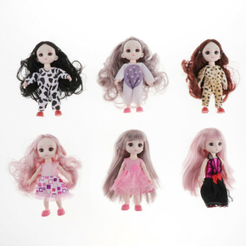 16cm Adorable Girl Doll Mini Jumpsuits Shoes BJD OB11 Party Outfits DIY Clothing