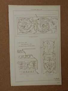 Antique-Architects-print-Tomb-Carvings-Campo-Santo-Pisa-The-Builder-1884