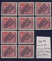 BUND Nr. 428** 10 Stück postfrisch-meist ok Benediktiner Abtei Ottobeuren 1964