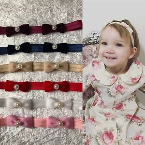 Vintage-Velvet-Bow-With-Pearl-Baby-Girl-Headband-Newborn-Variety-Headbands-Lot