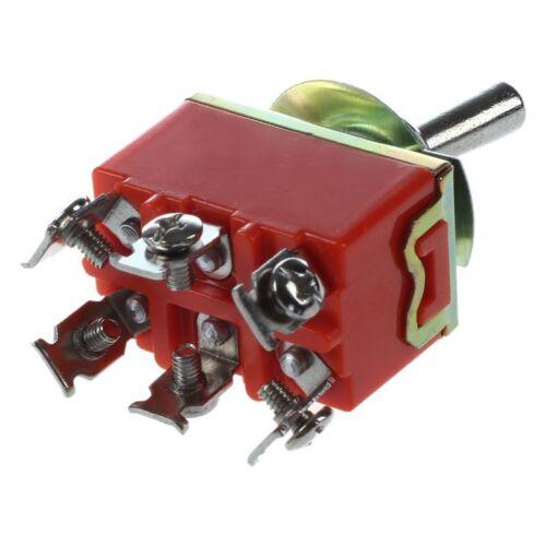 AC 250V 15A Latching 3 Way On-Off-On Single Pole Throw Toggle Switch Orange Q4T1