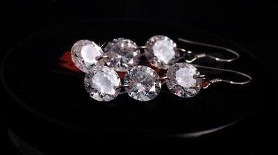 2*3CT Drop Diamond Earrings 925 Sterling Silver Love Heart Gift MOM wedding-ER77