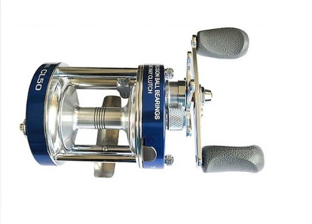 Ming Yang CL50 (C50) bluee Bait cast Reel Fishing Reel 2+1 BB Right handed