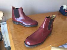 Vintage Dr Martens 2976 ox blood chelsea dealer boots UK 9 EU 43 mod ska England