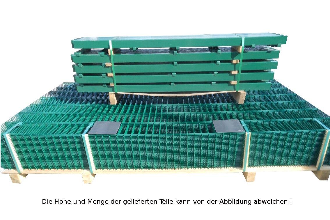 Doppio Bastone Stuoie Recinzione Set Completo verde 203cm alta 15m lungo