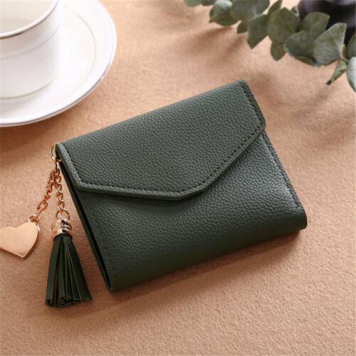 Women Leather Small Mini Wallet Card Holder Coin Purse Clutch Handbag Purse