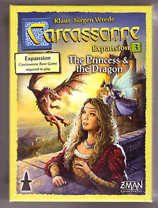 Carcassonne Expansion 3: The Princess & The Dragon [Board Game, 2-6 Players] NEW