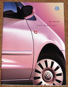 1999-2000 Vw Sharan La Brochure Commerciale-vr6 Se Sport Carat, Corps Style-afficher Le Titre D'origine Par Processus Scientifique