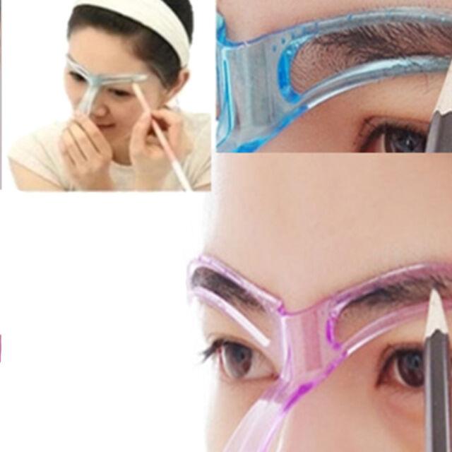 Plastic Eyebrow Grooming Stencil Template Eye Brow Shaping Guide Diy