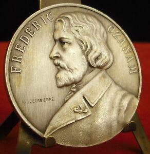 * Rare Médaille Frederic Ozanam Saint-vincent-de Paul Par A J Corbierre Medal 勋章