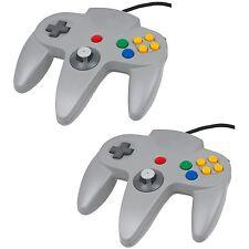 Twin Pack Grey Controller For Nintendo 64 N64  Retro Gamepad Joystick  JoyPad