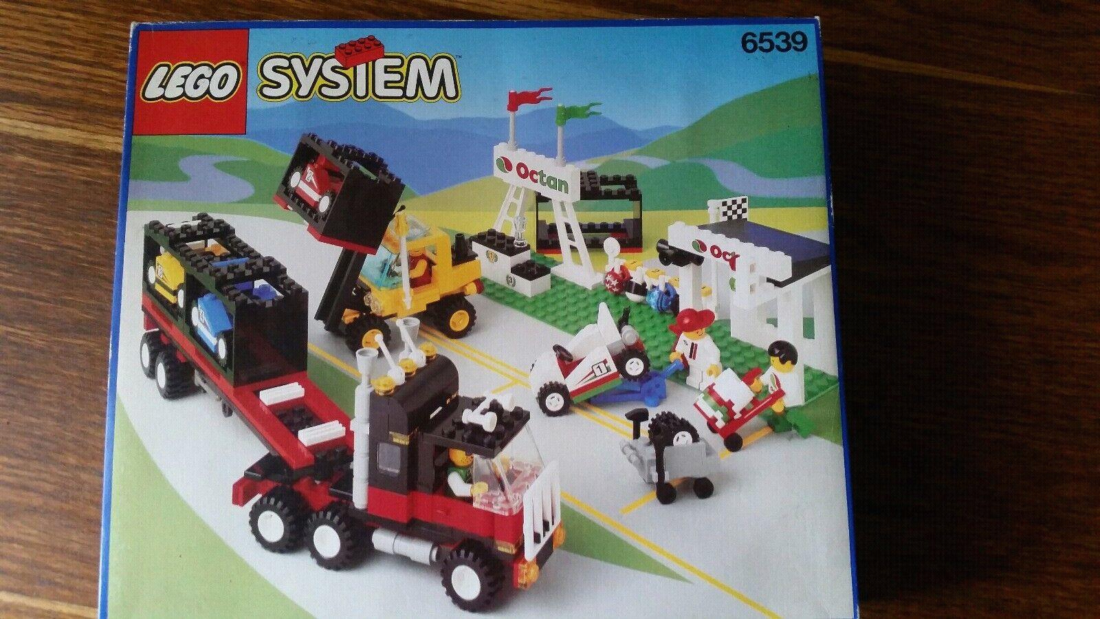 Lego Jahren System 6539 Rennstation aus 1993/1994 Jahren Lego Unbenutzt in OVP be1132