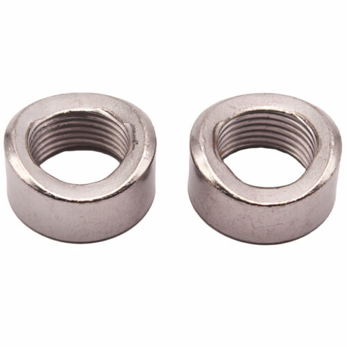 2PCS O2 Oxygen Sensor Curve Notched Nut Bung M18 X 1.5 Threads Mild steel