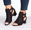 Roman-Womens-Open-Toe-Mid-Block-Heels-Ankle-Strap-Casual-Buckle-Mule-Sandal-Shoe thumbnail 2
