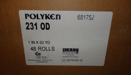 "48 Rolls Polytek 231 Military Grade Duct Tape 1/"" x 60 yds Olive Qty"