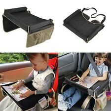 Baby Waterproof Car Safety Seat Snack & Play Lap Tray Portable Table Kid Travel