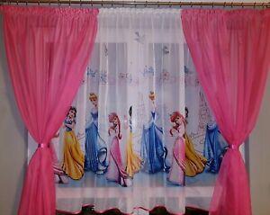 Détails sur Disney Voile Filet Rideaux Filles Chambre-Princesse - 225 cm  Largeur x 149 cm Drop- afficher le titre d\'origine