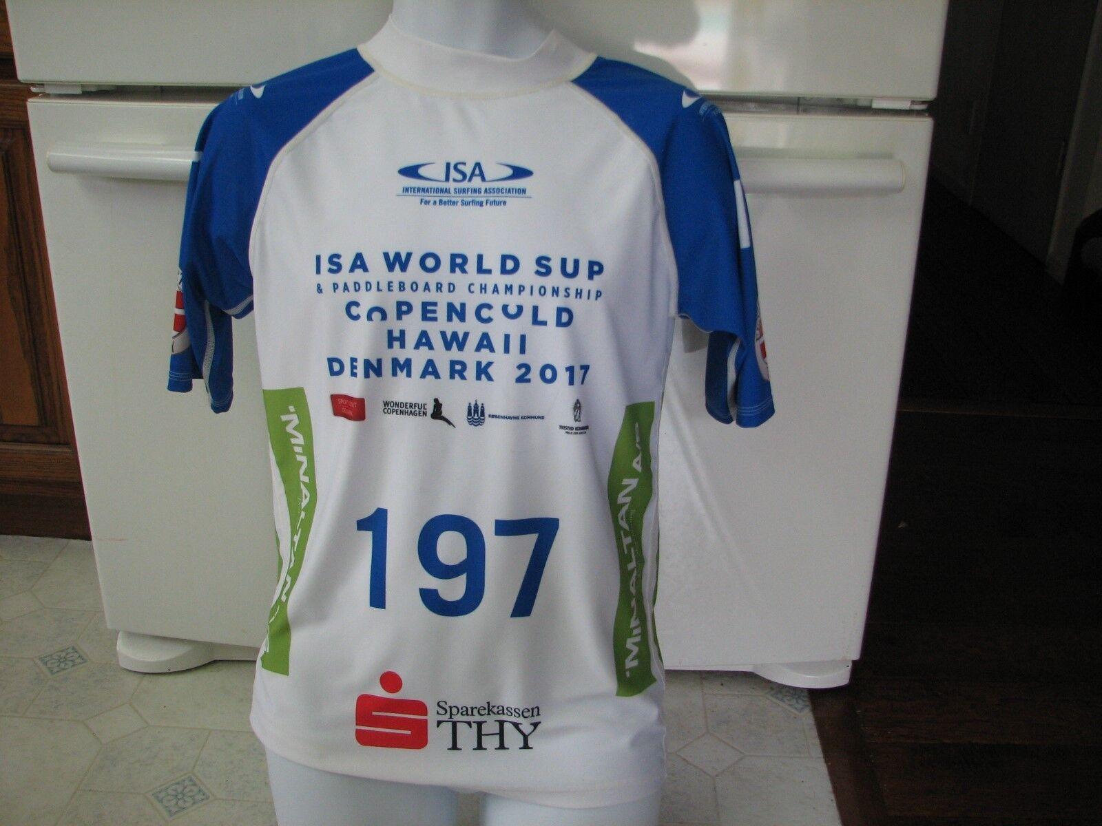 Intl Surfing Association XL rash guard SUP paddleboard contestant Denmark