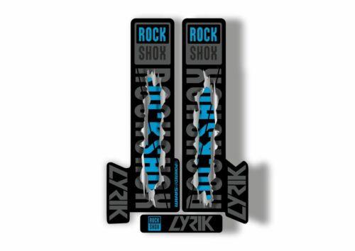 Rock Shox LYRIK 2018 Mountain Bike Cycling Decal Kit Sticker Adhesive Metal Torn