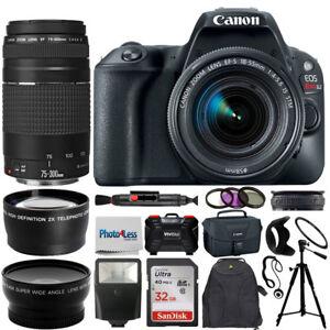 Canon EOS Rebel SL2 DSLR Camera + 4 Lens kit 18-55mm + 75-300mm Top Value Bundle