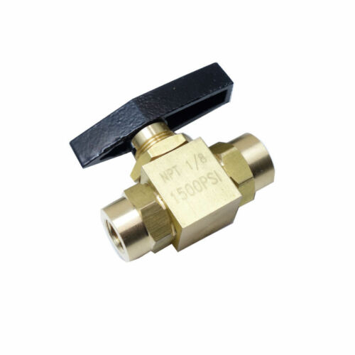"Brass Instrument 2 way Ball Valve Panel Mount 1500 psi 1//8/"" Female NPT"