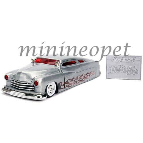 JADA 31080 ROAD RATS 20TH ANNIVERSARY 1951 MERCURY with FLAMES 1//24 RAW METAL