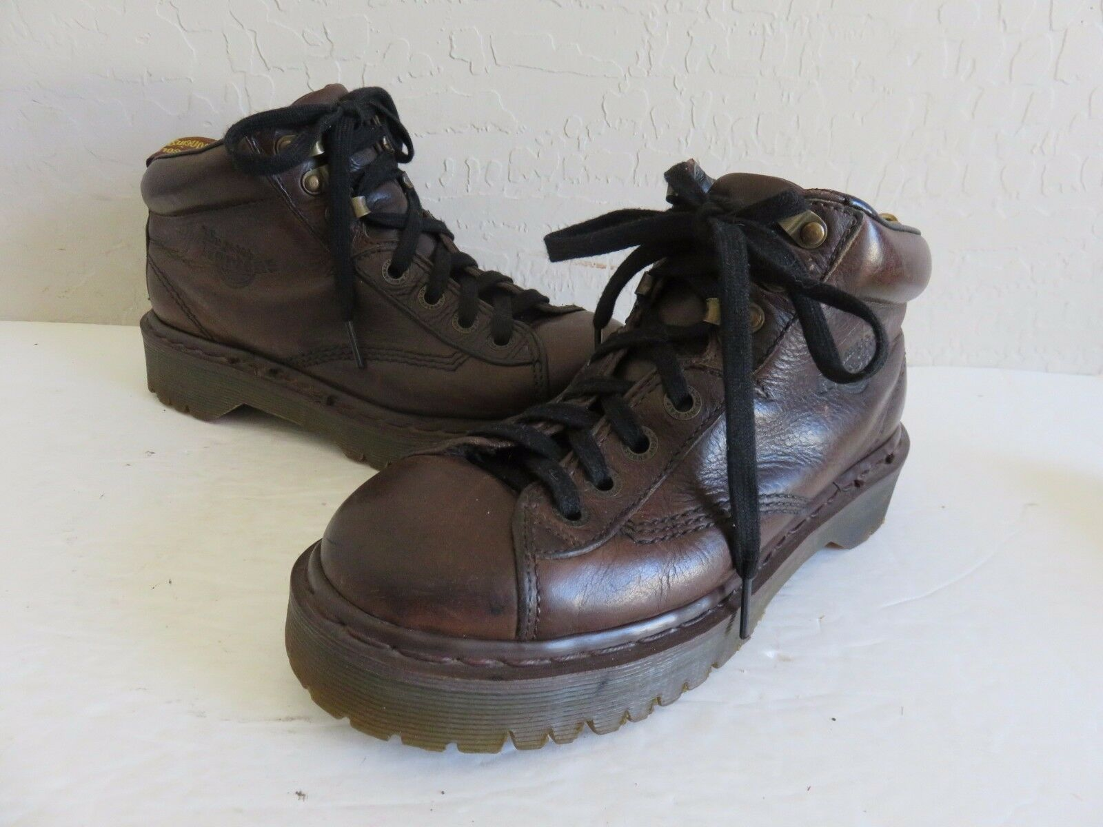 Dr Martens Ankle Boots Lace Up Brown Leather Womens 7M UK 5