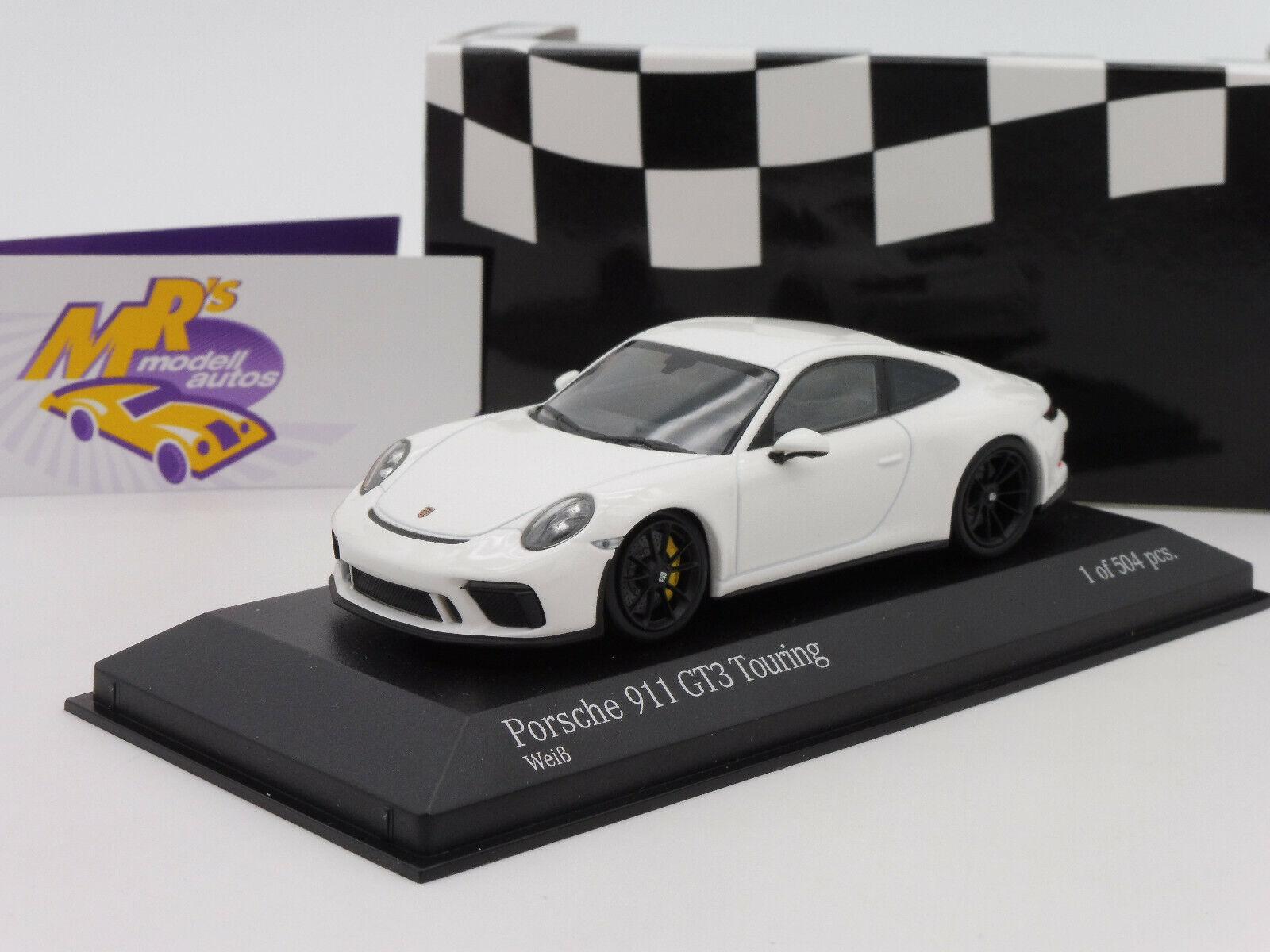 Minichamps 410067420   PORSCHE 911 (991.2) GT3 Touring Bj. 2018 in   weiß   1 43