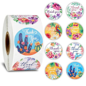 500Pcs-roll-Animal-flower-Stickers-for-seal-label-scrapbooking-Stationery-dec-UK