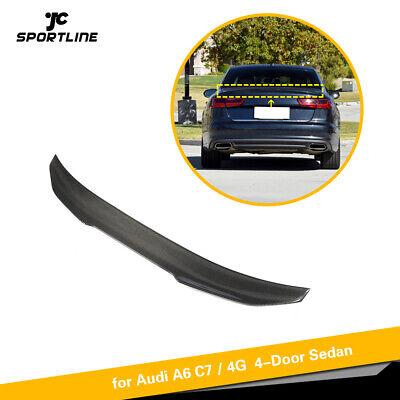 For AUDI A6 C7 S6 Sedan 12-18 Carbon Fiber Rear Trunk Spoiler Boot Wing Factory