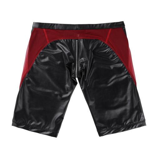 Männer Unterwäsche Metallic Slim Fit Boxer Shorts Badeshorts Strand Hose Schwarz