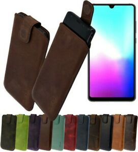 Huawei-Mate-20-Case-Genuine-Leather-Pouch-Protective-Slim-Cover-IN-14-Colours