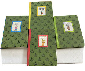 1965 THE WONDERFUL WORLDS OF WALT DISNEY 4 BOOK SET with NATURE + AMERICA