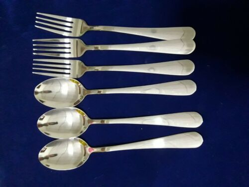 Spoon and Forks Stainless dinner  Picnic  3 pairs