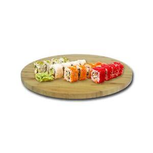 Bambus-Drehteller-35-cm-Drehplatte-Tortenplatte-Servierteller-Platzteller