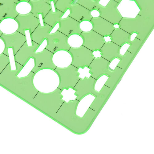 Plastic Circles Squares Geometric Template Ruler Stencil Measuring Tool Newes Cl