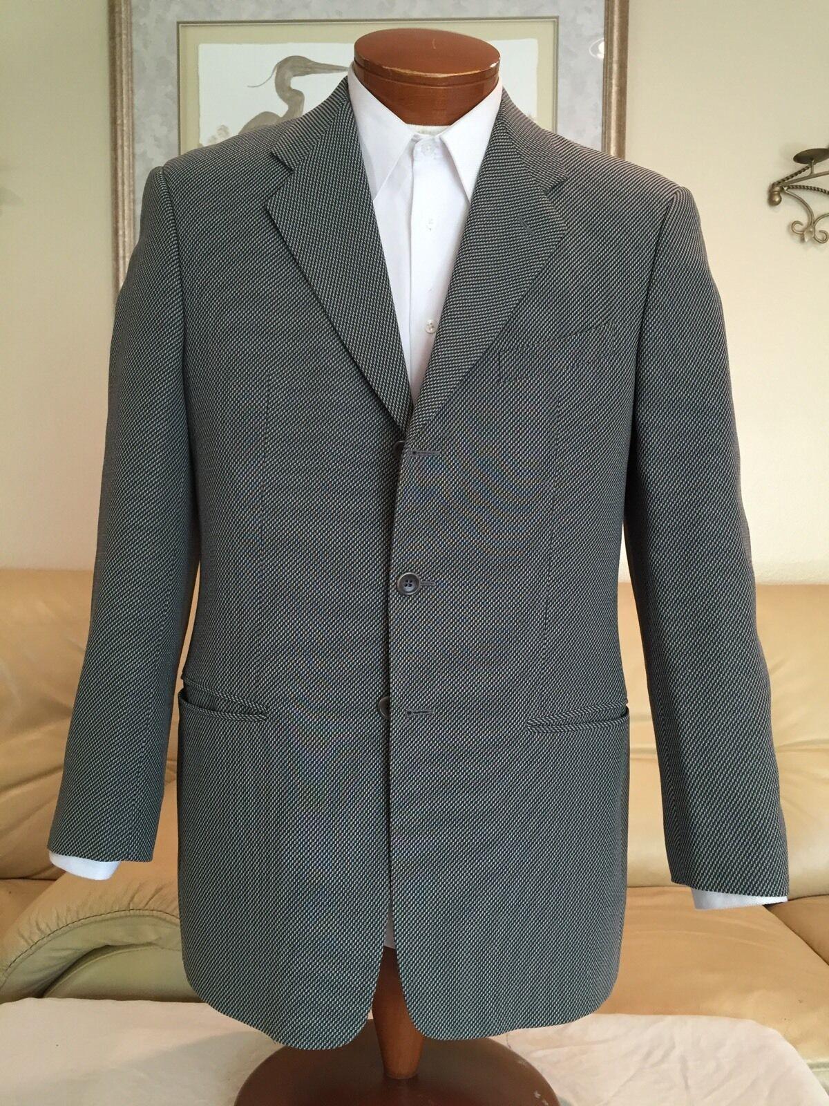 Giorgio Armani Collezioni Blazer Wool Cotton grau Blazer Sz 40 R