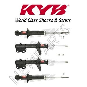 03-04 Strut Assemblies Shock Absorbers KYB 4 Excel-G Fits Mitsubishi Outlander