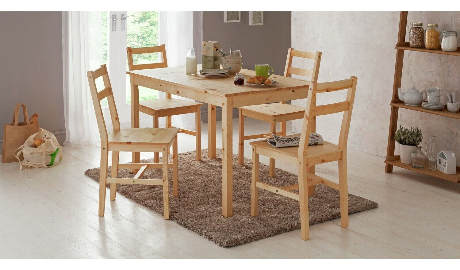 Home Raye Solid Wood Dining Table 4, Used Dining Room Chairs Chicago
