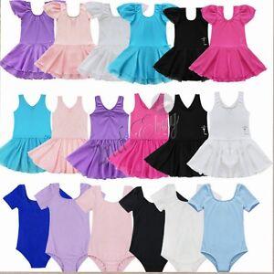 Toddler-Girl-Gymnastics-Leotard-Ballet-Dress-Party-Tutu-Skirt-Dance-wear-Costume