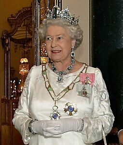 HRH QUEEN ELIZABETH II cross stitch chart also available as A4 glossy print
