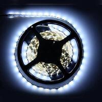 New 16.4ft 5M 12V 3528 SMD White 300 LED Strip Light Nonwaterproof Car Lamp Tape