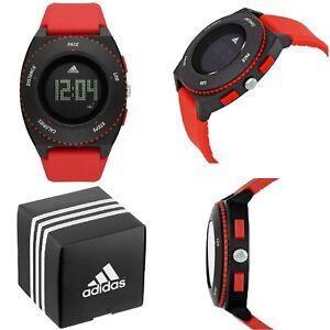 Adidas-Armbanduhr-Unisex-Schwarz-Herren-Damen-Sport-Digital-ADP3219-Watch-Neu-Ov