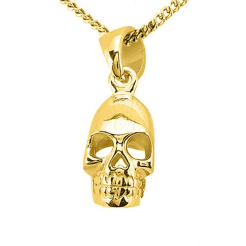 Skull Charm Pendentif 14k solide Pendentif en or jaune-Crâne Pendentif