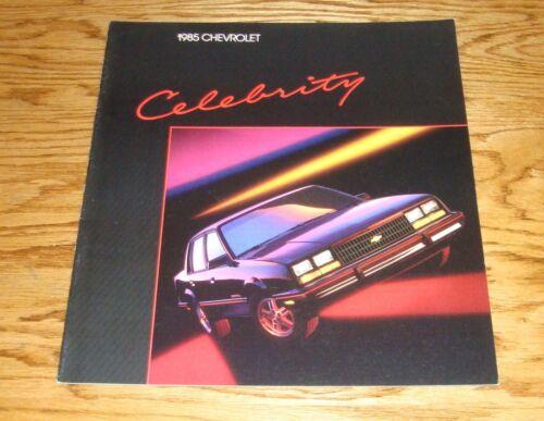 Original 1985 Chevrolet Celebrity Sales Brochure 85 Chevy
