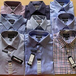 Kirkland-Men-039-s-Signature-Tailored-Fit-Long-Sleeve-Dress-Shirt