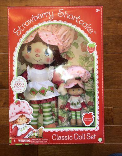 "Strawberry Shortcake Retro Classic Doll Set New Rag Doll & 6"" Doll"