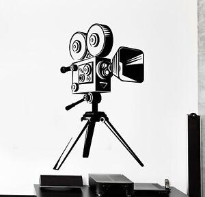 Vinyl Wall Decal Cinematography Film Sinema Camera Movie Stickers Mural (g5119)